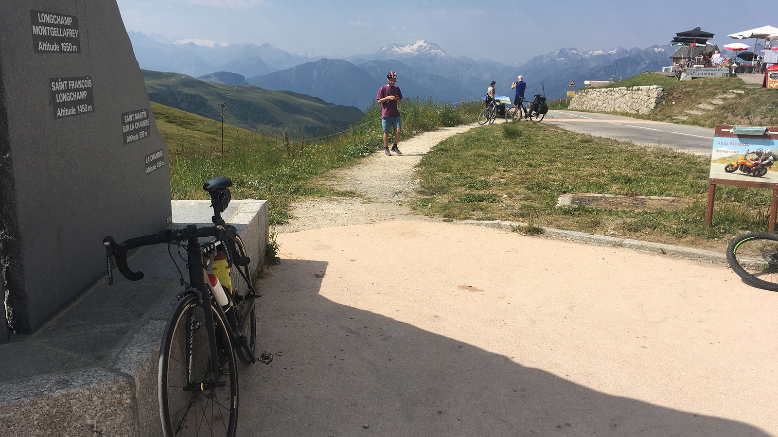 Vue Col de la Madeleine Cycle from Chamonix to Nice via route des Grands Alpes